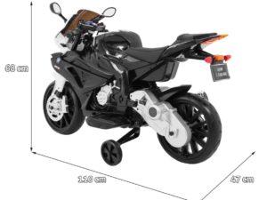 Elektromos Kismotor BMW S1000 RR-Pótkerékkel-Kitámasztóval-Fekete