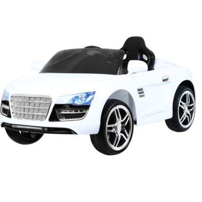 Elektromos Kisautó Audi-ra hasonlító AR8-Nyitható Csomagtartó-Fehér