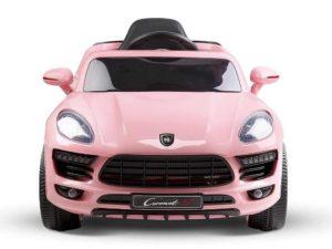 Elektromos Kisautó Porsche Cayenne-re hasonlító-Ringató funkcióval-Rózsaszín