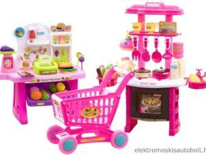 2-az-1-ben-konyha-és-szupermarket-bevásárlókocsival-rengeteg-kiegészítővel-szerepjátékokhoz-rózsaszín