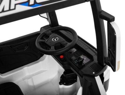 Elektromos Kisautó-Kamion-Mercedes Actros-4 Kerék meghajtással-Takaróponyvával-2 x 12V-Piros1