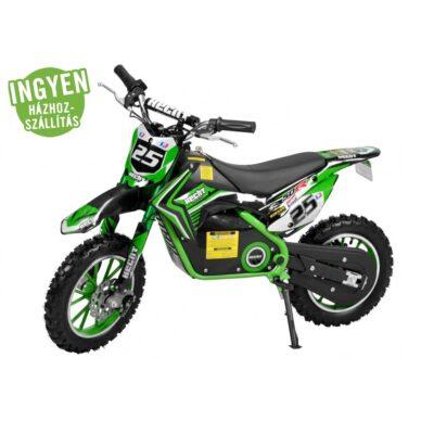 elektromos profi krosszmotor hecht 54501-500w 36v-korlátozható sebesség-2 év jótállással-országos szervízhálózat-ülésmagasság: 58 cm-zöld