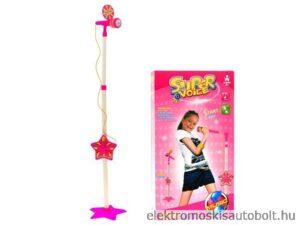karaoke-állvány-mikrofonnal-rózsaszín