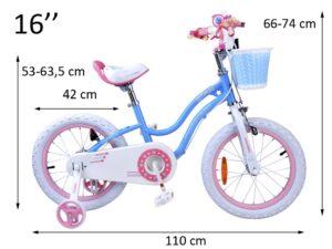 """Gyerek Kerékpár Royal Baby Star """"16""""Piros"""