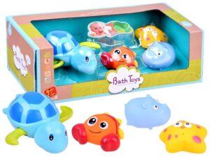 Színes, Spriccelő Állatok-Úszó Teknőssel-Fürdőjáték