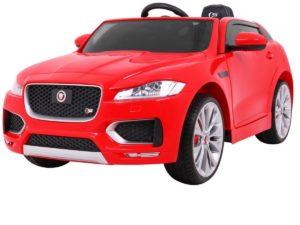 Elektromos Kisautó Jaguar F-Pace-Takaróponyvával-Piros