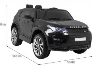 Elektromos Kisautó Land Rover Discovery-Takaróponyvával-Pendrive-Fekete