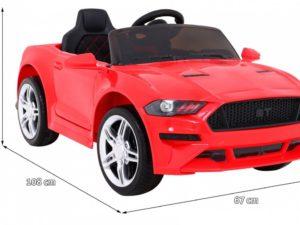 Elektromos Kisautó Mustang Sport GT-re hasonlító-Nyitható Csomagtartó-Fehér