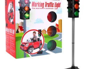 Interaktív Közlekedési Lámpa-Fény és Hanghatásokkal-Két Üzemmód-72 cm