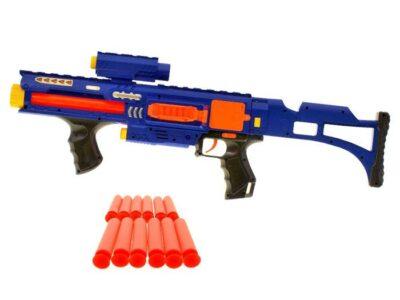 Lézeres Automata Géppuska MP18-Habpatronokkal-Hanghatásokkal és Fényhatásokkal