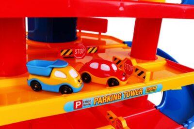 Nagy méretű Autópálya-Parkolóház-78 elem-6 Szint-Sok Mozgó elemmel-Autómosó-Autójavító műhellyel