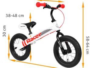 Racer Futókerékpár-Fújható Gumi-Állítható Kormánymagasság-Állítható Ülésmagasság-Fehér