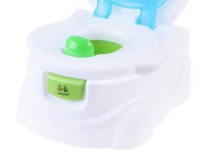 Zenélő 3 az 1-ben Interaktív Bili-WC papír tartóval-WC lehúzóval-Kivehető Tartállyal-WC Szűkítőként is használható-Zöld