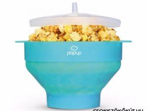 PoPuP Szilikon Popcorn Készítő Összecsukható-Kék
