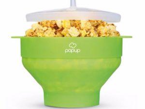 PoPuP Szilikon Popcorn Készítő Összecsukható-Zöld