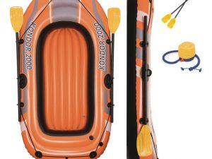 """BESTWAY Felfújható Csónak Kondor 1000-2 Db. Evezőlapáttal-1,55m x 93cm / 61 """"x 37"""""""