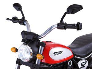 Elektromos Kismotor Street Bob-ra hasonlító-Fújható Kerekekkel-Támasztókerékkel-USB-SD-MP3-Kétmotoros-Zöld