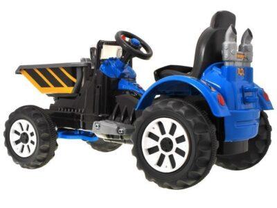 Elektromos Kistraktor Gyerekenek Platóval-12V- Kék