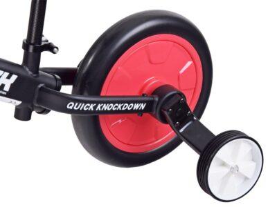 3 az 1-ben Futóbicikli-Kerékpár Levető Segédkerékkel-Állítható Ülés magasság-EVA Kerekek-Piros