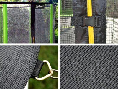 SkyFlyer® Minőségi Trambulin Kétféle módon Rögzíthető Védőhálóval-Létrával-Rozsdamentes Vázzal-180 cm