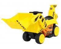 Elektromos Kistraktor 6V-Mozgatható Kanállal-Világító első lámpák-Dallamok-MP3-SD-Sárga