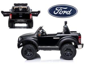 Elektromos Kisautó Ford Raptor-4 Kerék Meghajtás-Kétüléses-Slusszkulcs-Nyitható motorháztető-Lenyitható plató-Piros