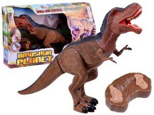 Nagy-méretű( 53 cm hossz.) Interaktív Távirányítós T-Rex Dinoszaurusz-Sétál-Fény és Hanghatásokkal
