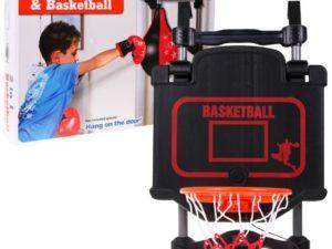 2 az 1-ben Kosárlabda és Box Szett-Elektronikus Eredményjelzővel és Időmérővel