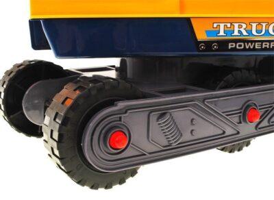 lánctalpas lábbal hajtható markoló-kotrógép-mozgatható kanállal-sisakkal