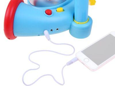 Hordozható Mikrofon-Állvánnyal-Diszkógömbbel-MP3 csatlakozóval-Hang és Fényhatásokkal-Rózsaszín