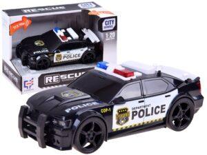 lendkerekes-elemes rendőrautó-szirénázik-motorhang-villog-nyitható kis csomagtartó (másolat)