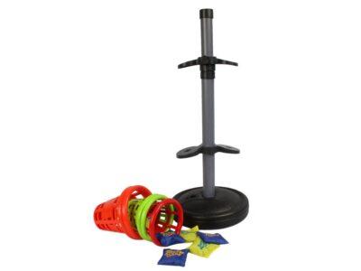 célba dobó játék az egész családnak-Állítható magasságú-alapba víz vagy homok tehető