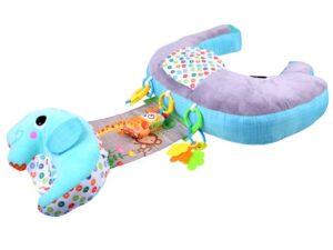 5 az 1-ben játszó-stabilizációs párnahenger-terhességi párna-szoptatós párna-kabalával-csörgővel-levehető kiegészítő párnával