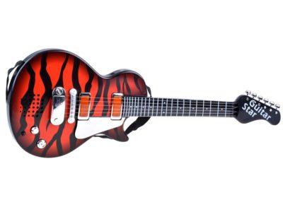 elemes rock gitár mikrofonnal gyerekeknek-hang és fényeffektusokkal-Állítható Állvánnyal