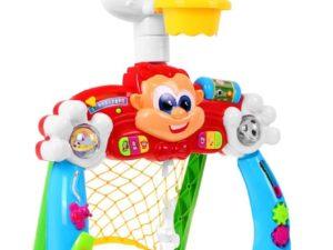 interaktív focikapu és kosárlabda palánk babáknak-dallamokkal-hangeffektusokkal-fényhatásokkal