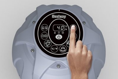 bestway lay-z-spa havana airjet felfújható mobil masszázsmedence-jakuzzi 180 x 66 cm-2-4 személyes-digitális Érintőpaneles hőmérséklet-szabályozás-távirányító-rattan hatású