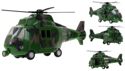 nagy-méretű zöld terepmintás katonai helikopter-fény és hanghatásokkal-nyitható ajtókkal