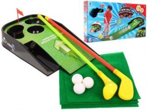 minigolf szett-hang és fényeffektusokkal-3 db. golflabdával