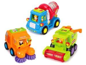 játékautó, betonkeverő, seprőgép, kombájn, jármű za1812