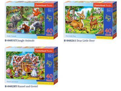 castorland puzzle 40 db. nagy méretű elemmel-több fajta-99 x 40 cm-es kép