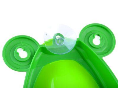 piszoár-bili-wc kisfiúknak-kivehetőbetéttel-tapadókorongokkal-zöld