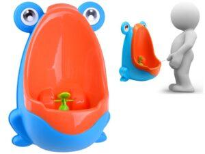 piszoár-bili-wc kisfiúknak-kivehető betéttel-tapadókorongokkal-kék