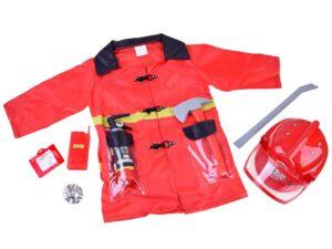 tűzoltó jelmez-kabát-sisak-működő tűzoltó készülék-walkie-talkie-egyéb kiegészítők
