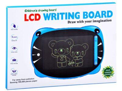 lcd grafikus tábla gyerekeknek-ceruzával-gombnyomásra törlődik-rózsaszín