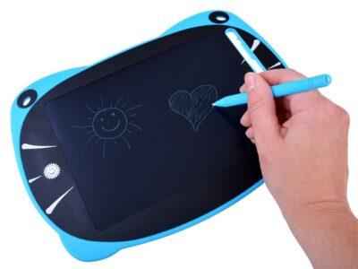 lcd grafikus tábla gyerekeknek-ceruzával-gombnyomásra törlődik-rózsaszín (másolat)
