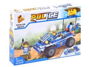 2 az 1-ben Építő kockák-2 típusú rendőr járgány elkészítéséhez-191 elemes