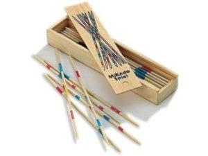 mikadó-marokkó fa-Ügyességi társasjáték-dobozban