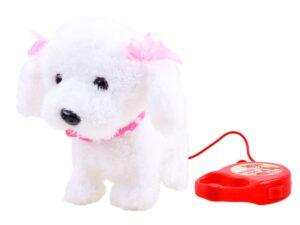 bájos interaktív kutya-reagál az érintésre-sétál-ugat-Élethű hangok-farkát tudja csóválni-fehér