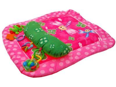 színes játszószőnyeg csörgőkkel-rózsaszín