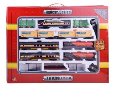 mega elemes vonatpálya-mozdonnyal-kocsikkal- hangeffektussal-világítással-325 cm-b